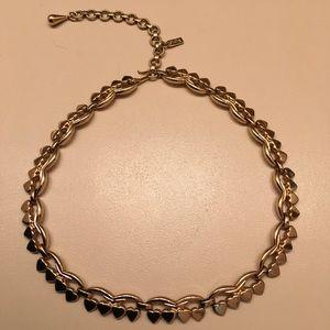 Monet Choker Necklace Gold Tone Vintage